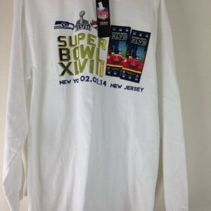 New  $36 Super Bowl XLVIII T Shirt L Seattle Seaha